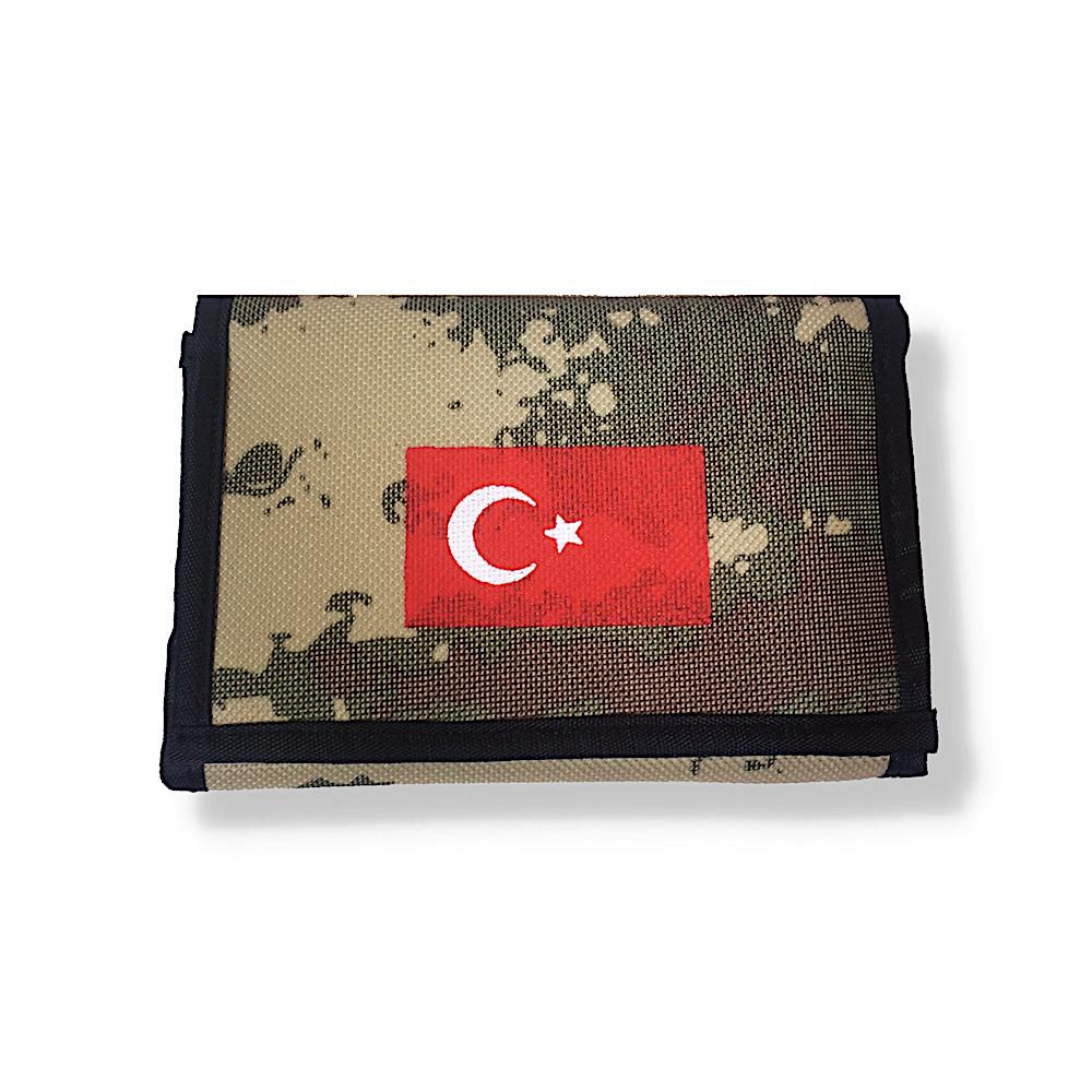 Türk Bayrağı Ay Yıldız Kamuflaj Spor Erkek Cüzdan