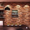 El Yapımı Ahşap Duvar Süsü Dream Believe Achieve