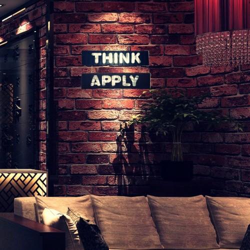 El Yapımı Ahşap Duvar Süsü Think Apply
