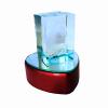 3 Boyutlu Işıklı Kalpli Kristal Cam Biblo Sevgi Temalı