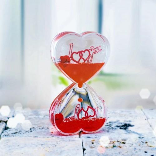 Kalp Şeklinde Sıvı Jel Kum Saati