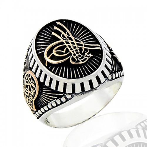 Osmanlı Tuğrası Erkek Gümüş Yüzük