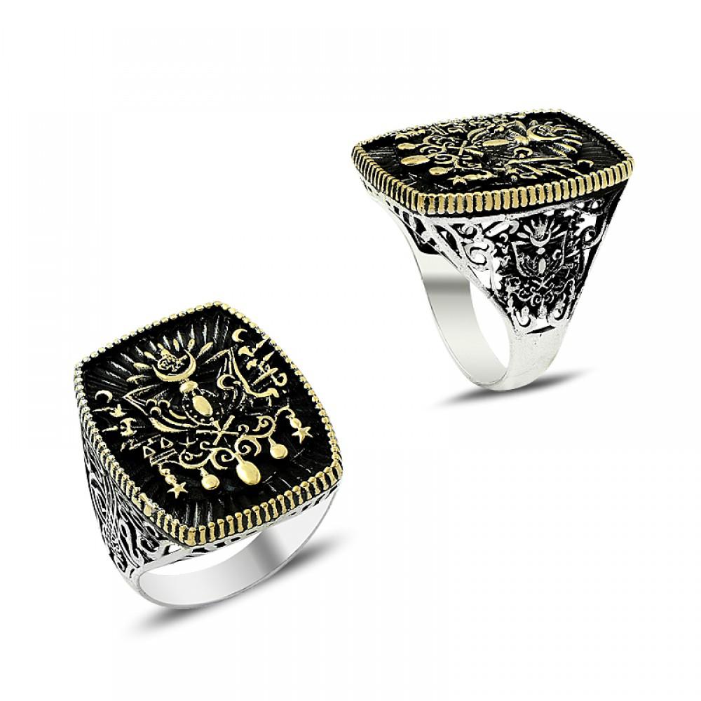 Osmanlı Arması Erkek Gümüş Yüzük
