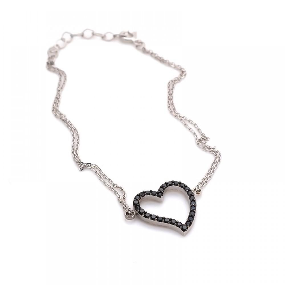 Kalpli Gümüş Bileklik