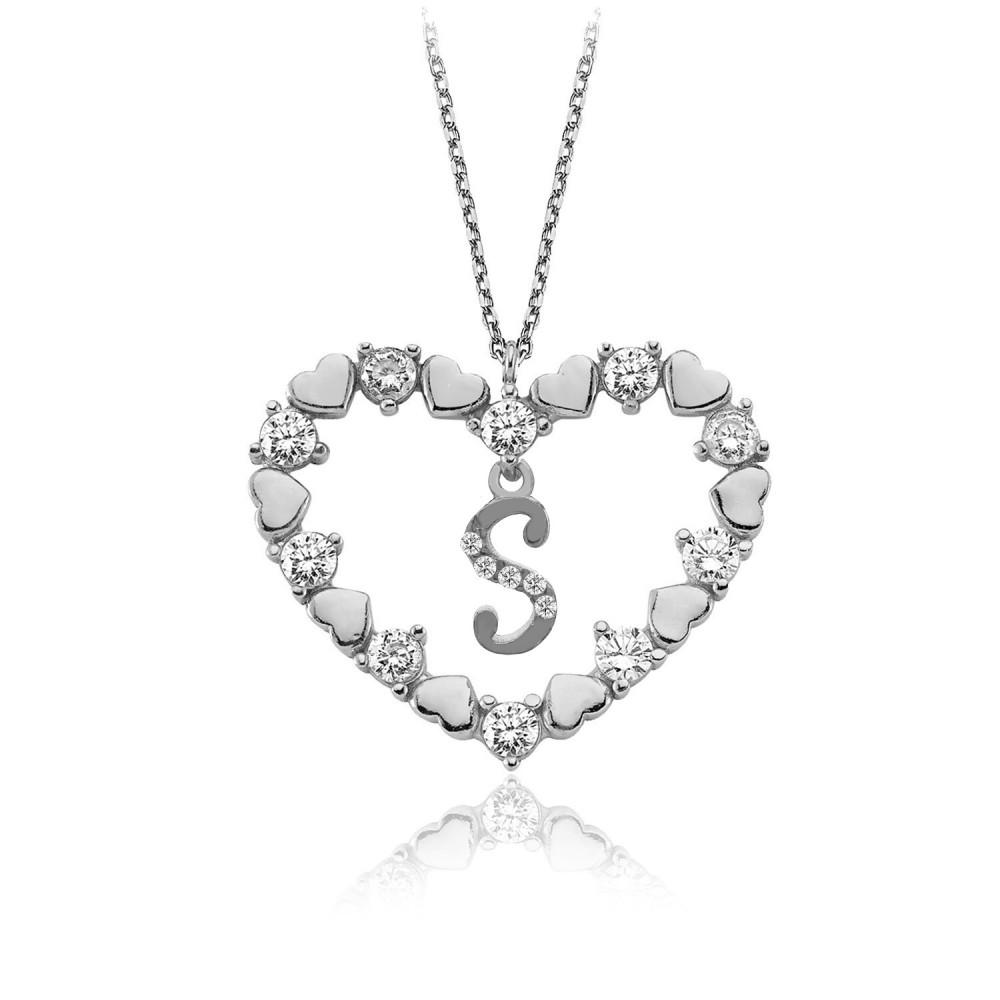 Kalbimin Aynası Harfli Gümüş Kolye
