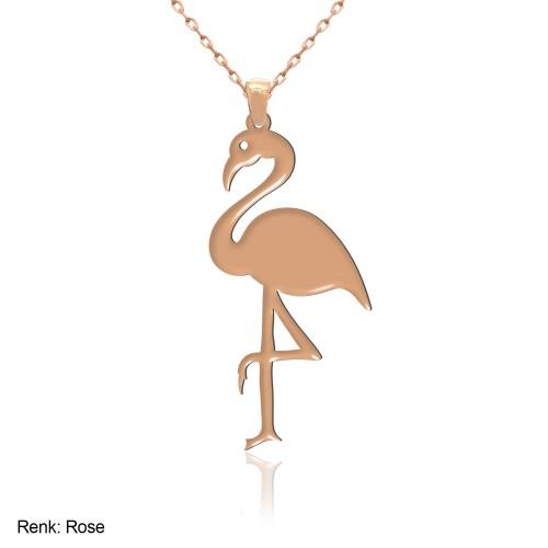 Sade Flamingo Gümüş Kolye