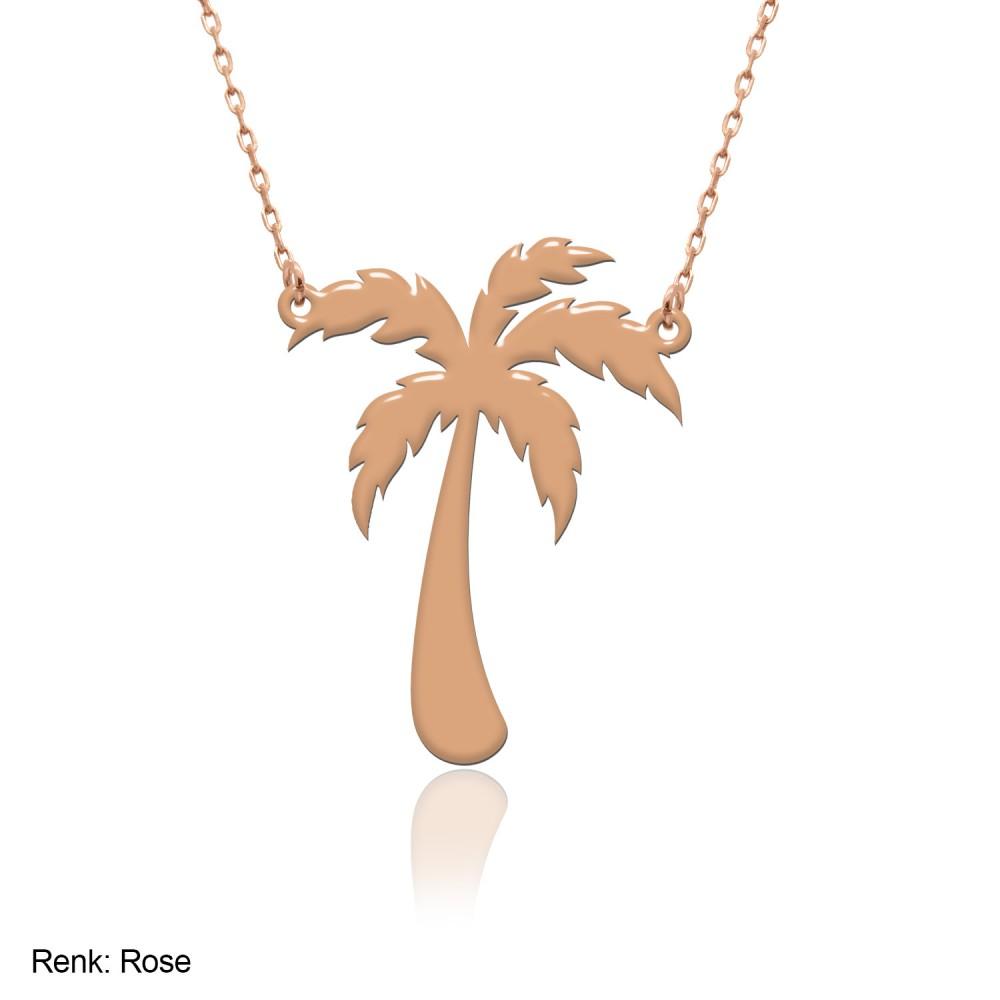 Sade Palmiye Gümüş Kolye
