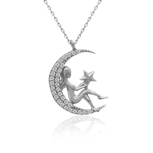 Ay Perisi Gümüş Kolye