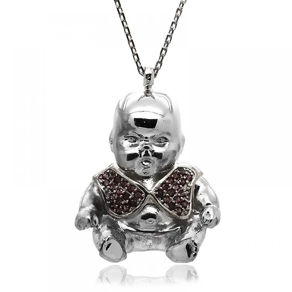 Tombul Bebek Gümüş Kolye